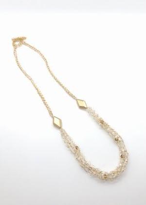 【キット】リリヤン編みのネックレスとイヤリング(レッスンVer・市販チェーン)