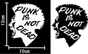 PUNK IS NOT DEAD 2枚セット パンクは死んでねぇ! カッティングステッカー