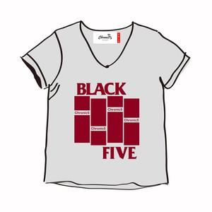 BLACK FLAG no no BLACK FIVE V-TEE ( G )