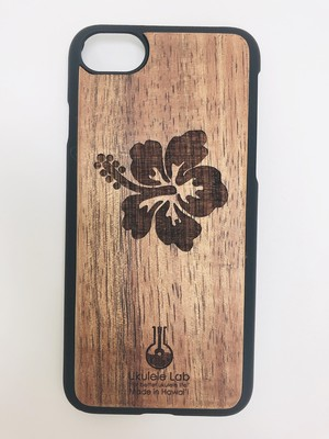 アイフォンケース ハイビスカス iPhone7 iPhone8 ウクレレ・ラボのコアの携帯ケース uk-105