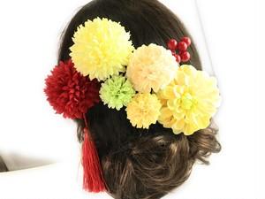 祝い花の花かんざし8点セット