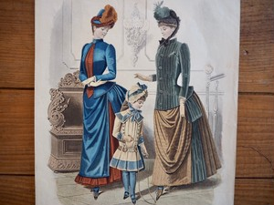 MODE VRAIES / FASHION PLATE / FRANCE 1884