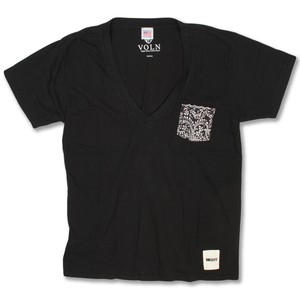 Remake V-Neck Tee Black
