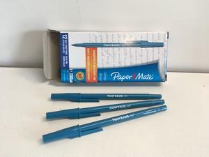 アメリカの安いボールペン【ブルー】3本セット Paper Mate, Write Bros
