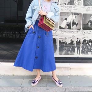 トレンチデザインスカート(ブルー)