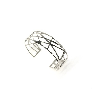 Graphic Bangle - Stainless Steel