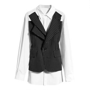 シングルジャケットパッチワークシャツ 1W022