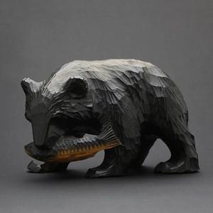 昭和レトロ 木彫りの熊 16cm (441)