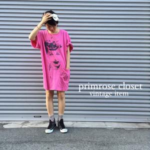 vintage ピンク女優プリントBIGサイズT