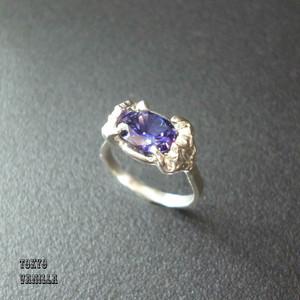 Lotus 蓮の花のリング - violet