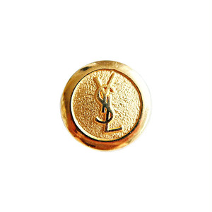 【VINTAGE SAINTLAURENT BUTTON】ゴールドロゴ ボタン 18mm