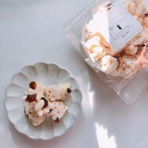 〈お米〉ラムレーズンのポン菓子