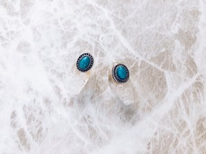 crystal turquoise concho pierce