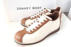【中古】ゾンキーブーツ|ZONKEY BOOT|バイカラーローカットスニーカー|5.5|ホワイト×ブラウン