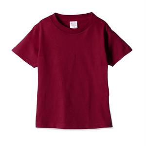 キッズ クルーネックTシャツ (半袖) レッド
