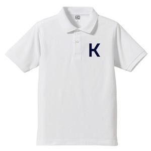 K ポロシャツ (ホワイト×ネイビー)