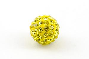 ラインストーンパヴェボール 1個 10mm シトロン 黄色 pve-citron10