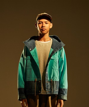 Cross Over Mountain Jean Jacket -sax <LSD-BJ1B1>