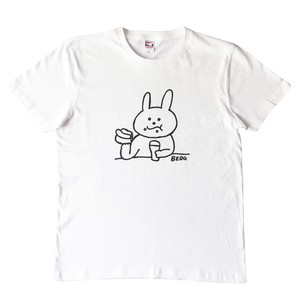 もぐもぐうさぎTシャツ (ホワイト)