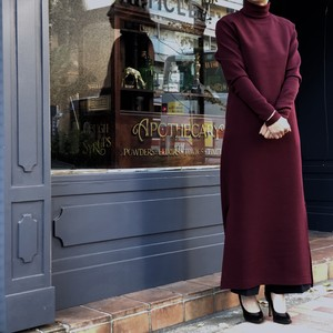 Turtle Long Dress/BORDEAUX