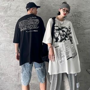 【トップス】男女兼用半袖プリント暗黒系ヒップホップストリート系Tシャツ45701595
