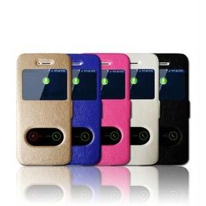 iPhone7 窓付き 手帳型 ケース (iPhone7, ピンク) hwab090