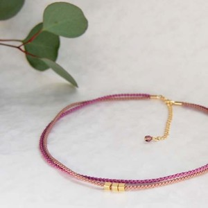 ◍choker necklace(plum)