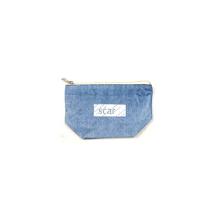 scar /////// BLACKBOX DENIM DAILY POUCH (Small) (Vintage Blue)