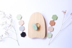 331伝統文化品美濃焼多治見丸タイル指輪・リング(フリーサイズ)
