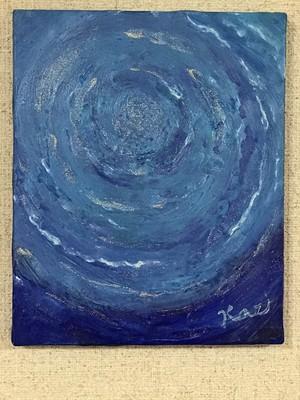 絵画(アクリル画) Blue Lotas