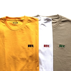 REV Logo Tee - white - mint - sand - gold