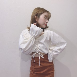 frill square neck tops (S19-01058K)