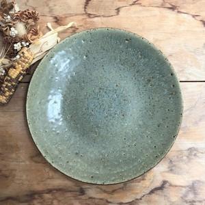 関太一郎「オリーブ色の大皿 25cm」