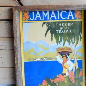 ヴィンテージポスター(フレーム付き) JAMAICA