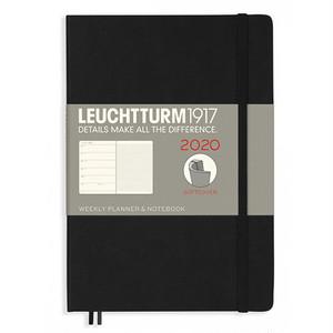 ロイヒトトゥルム  手帳 ウィークリー ソフト ミディアム A5 black(日本の祝日の記載なし)