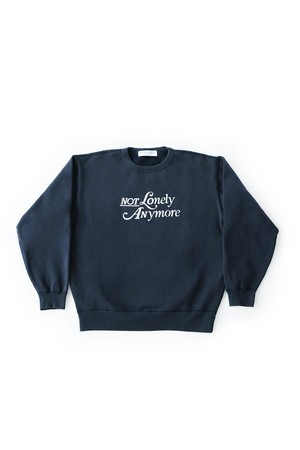 not lonely Any More Crew sweat shirt Navy