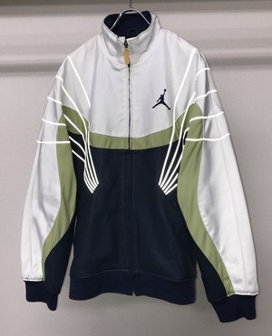 2000s NIKE JORDAN LEATHER X NYLON RACING JACKET