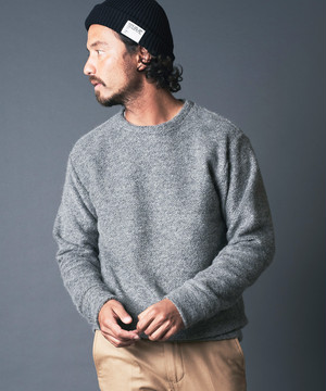 ITALIAN MOHAIR KNITSAW CREW NECK