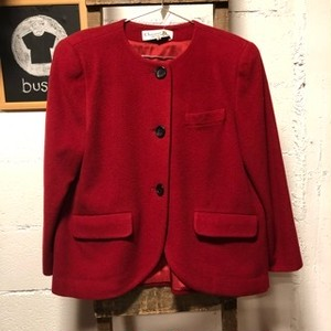 Christian Dior red tailored jacket