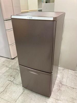 中古 良品 パナソニック 2ドア冷蔵庫 138L ブラウン 右開き 2017年製