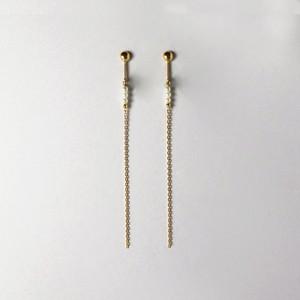 SUZURAN / Baby Pearl Clip-on Earrings (Long)