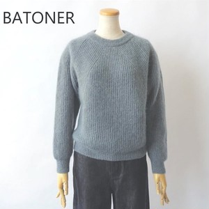 BATONER/バトナー・Super Kid Mohair Signature Crew Neck