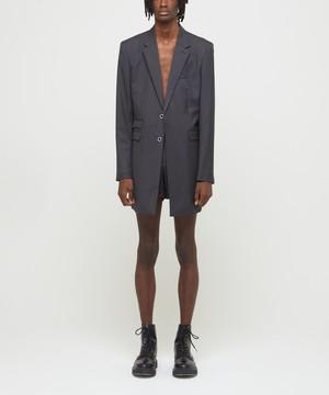 Grey Buttonless Teds Blazer