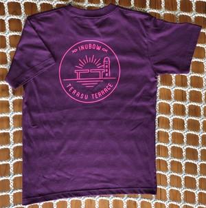 オリジナルロゴTシャツ マットパープル×トロピカルピンク