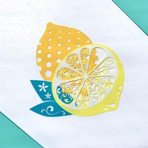 切り絵キット2020.04「レモン」