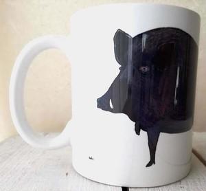 イノシシマグカップ