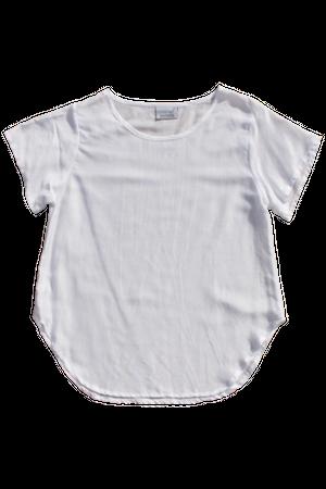 コットンシンプルシャツ 白/グレー