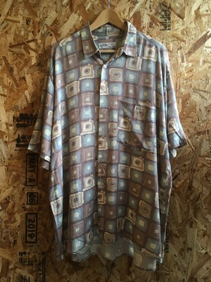 watercolor patterned rayon shirt