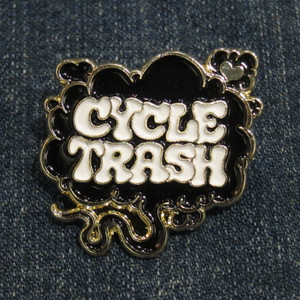 "Cycle Trash ""Fart"" logo pin badge, SP:blk/wht"