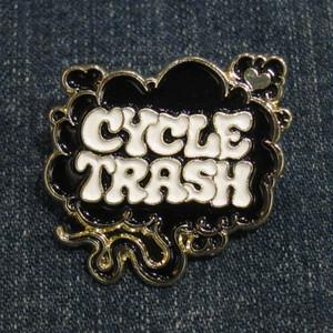 "Cycle Trash ""Fart"" logo pin badge, SP:blk/wht"